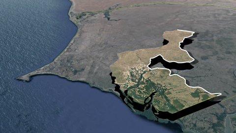 Fatick Region - Animation Map Regions of Senegal