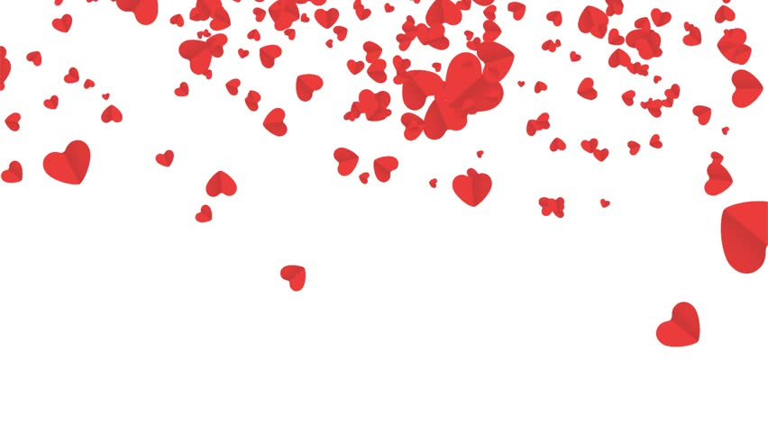 Falling hearts, Beautiful heart background for wedding, birthday, valentines day, birthday, invitation etc. .  | Shutterstock HD Video #1013180093