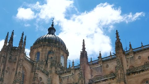 The New Cathedral close up , Salamanca , Spain