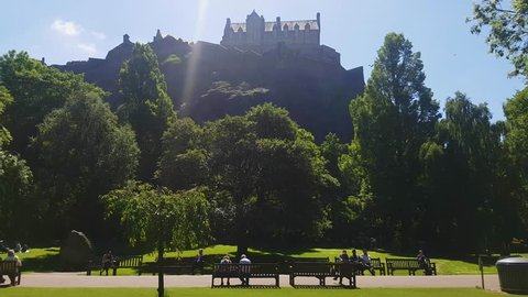 A view of Edinburgh Castle during sunny afternoon.