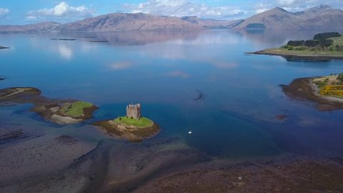 Castle Stalker on the west coast of scotland.