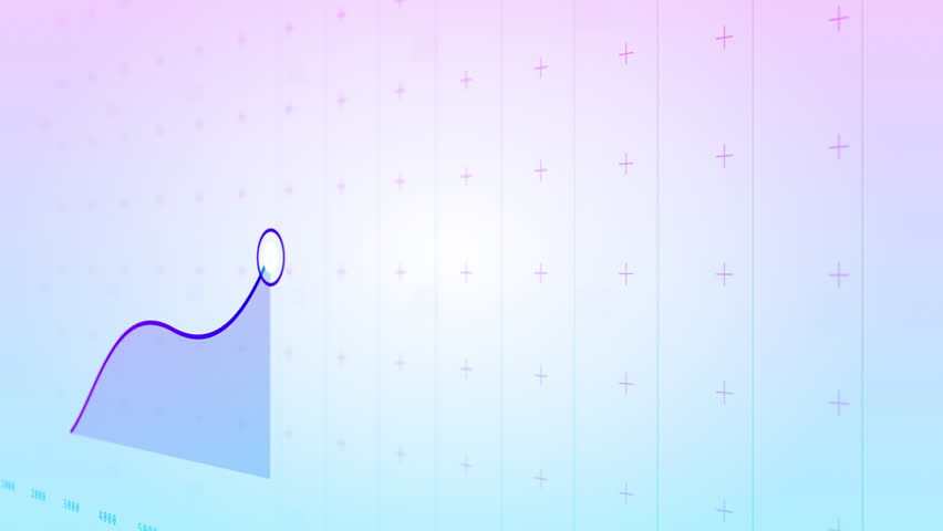 A growing graph animation in 3D. Purple and Blue...
