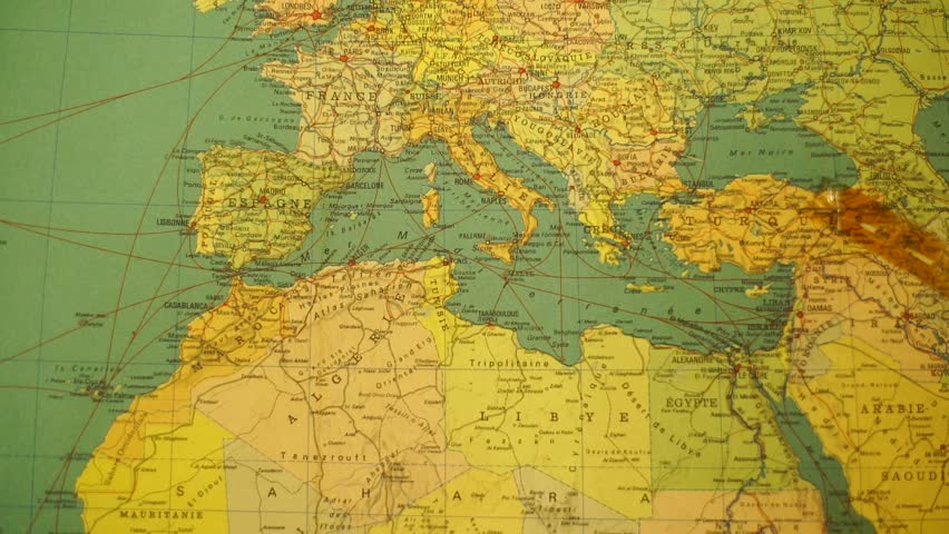 Europe and North Africa Vintage Stock Footage Video (100% Royalty-free)  1013516033 | Shutterstock
