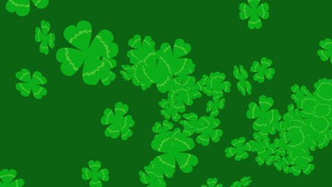 4 leaf clover background video