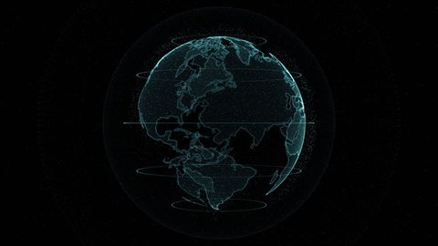 Digital globe -  planet earth animation.