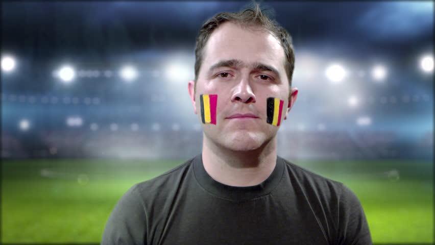 Belgium Fan Celebrating goal | Shutterstock HD Video #1013670353