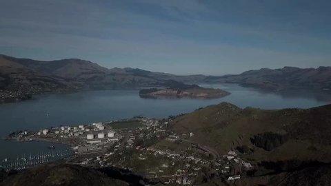 Tropical island aerial footage