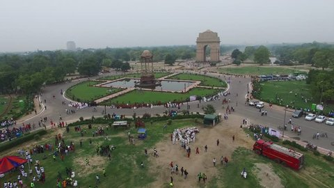 it is a rare drone footage of indiagate