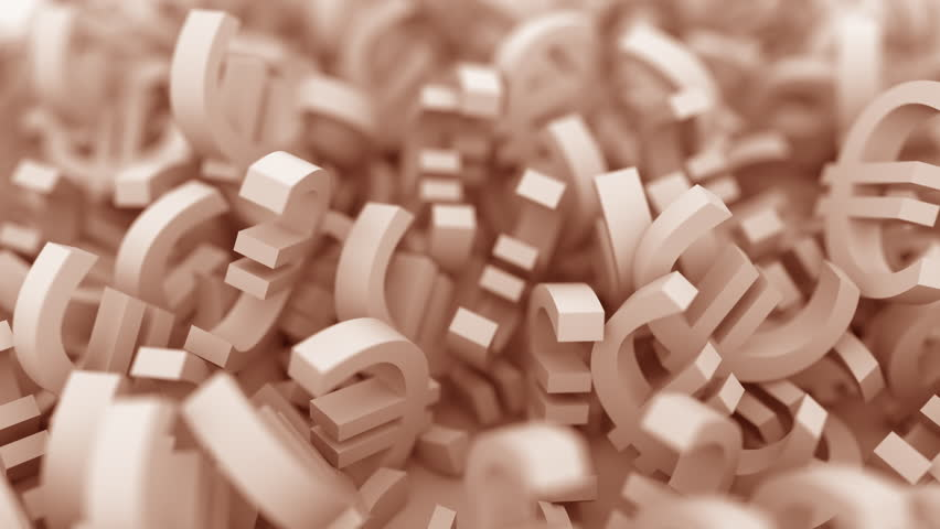 Pile of brown euro symbols. Finance related conceptual 3D animation   Shutterstock HD Video #1013794673
