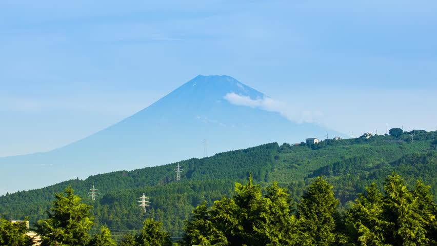 Beautiful mountain Fuji It's like a Japanese cabaret.