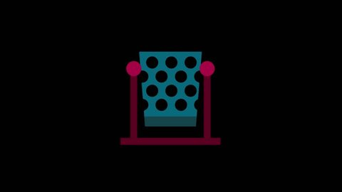 City icons animation with black png background.Bin icon animation with black png background.