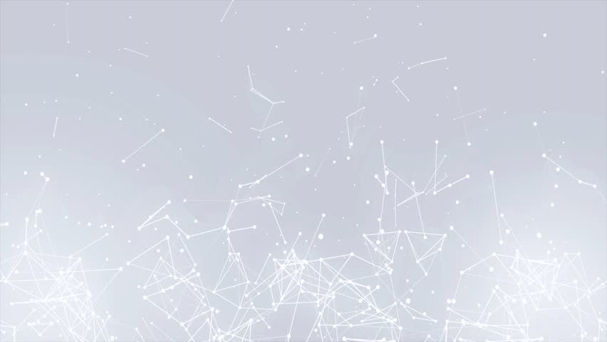 Clean White Abstract polygonal Digital Concept Geometrical Polygon Plexus Fractals Moving low poly Technologies Minimalist design element Seamless loop background for corporate business presentation | Shutterstock HD Video #1013908583