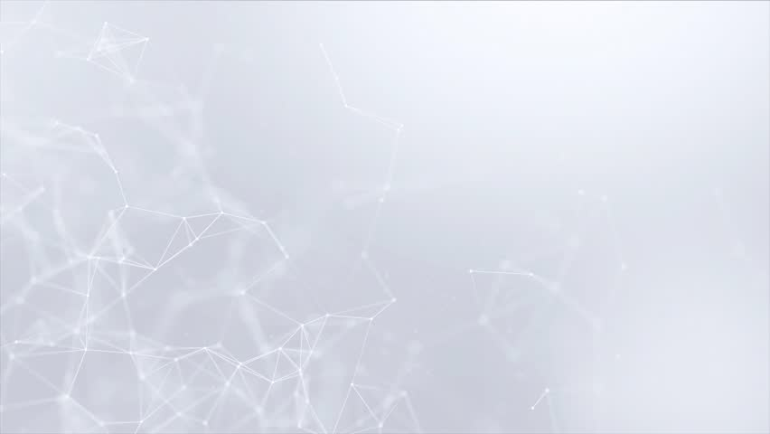 Clean White Abstract polygonal Digital Concept Geometrical Polygon Plexus Fractals Moving low poly Technologies Minimalist design element Seamless loop background for corporate business presentation | Shutterstock HD Video #1013908613