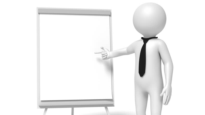 Animation of a businessman showing on flip-chart with text time for change | Shutterstock HD Video #1013948183