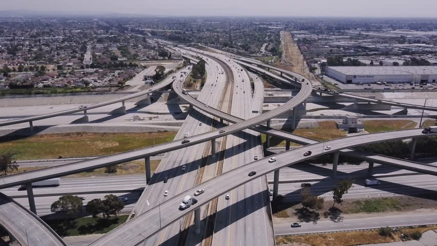 LA Freeway Overpass	  | Shutterstock HD Video #1013976623
