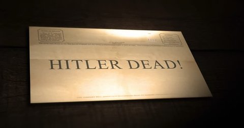 Sepia old telegram text series -  Hitler dead!