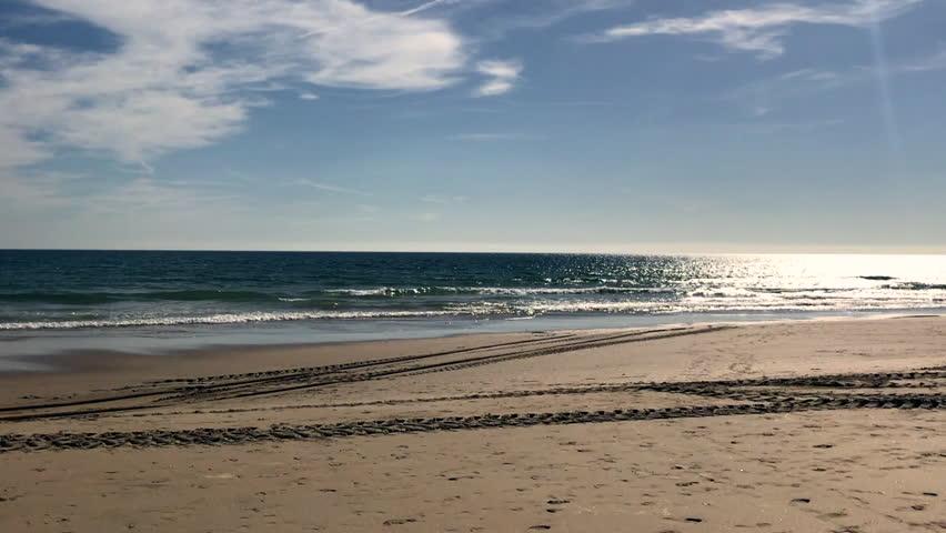 Lisbon Beach In Summertime. A beautiful day at the beach.
