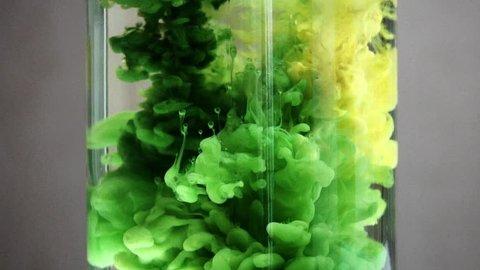 Green ink in water LOOP