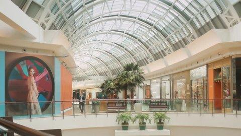 ORLANDO, FL / USA - JUNE 10, 2018: Mall at Millenia modern shopping center interior, taken on June 10, 2018.