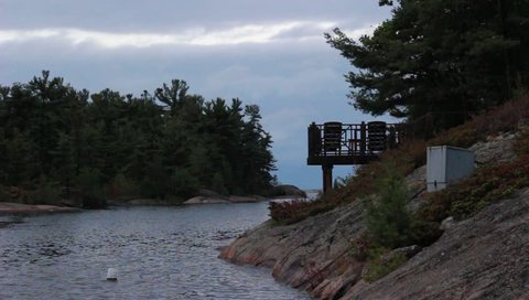 view of cottage country in Muskoka, ontario