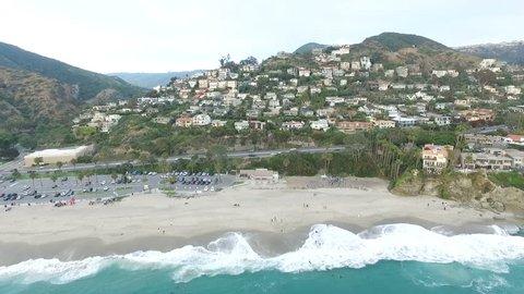 Aerial View of Residential Real Estate in Laguna Beach Orange County California USA HD.mov