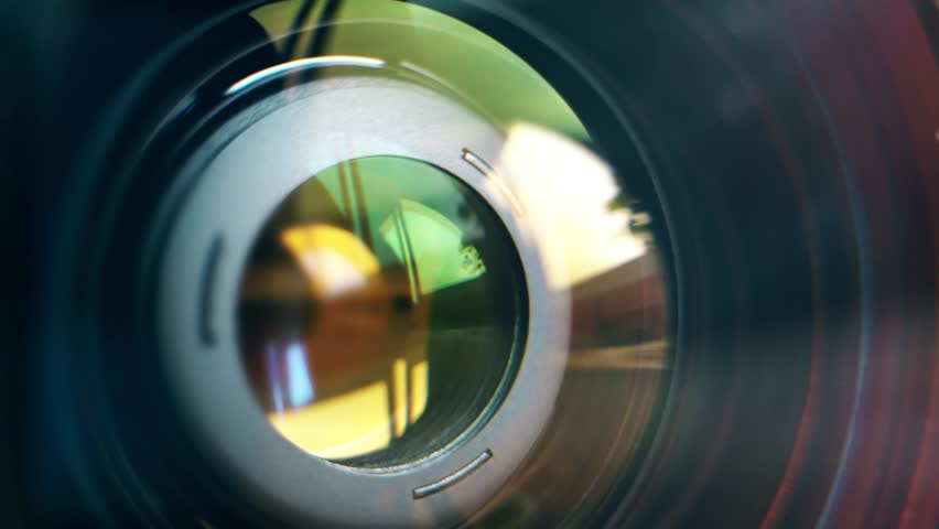 Focusing lens of digital camera. The Lens Of The Camera. Close-Up. Camera Focus Focusing And Shooting. Concept of proffesional service for photographic or filmmaker equipment.