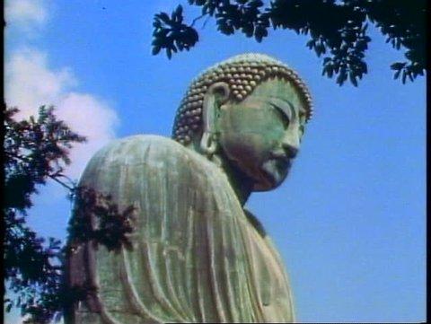 KAMAKURA, JAPAN, 1982, The Kamakura Buddha of Japan, top of Buddha head