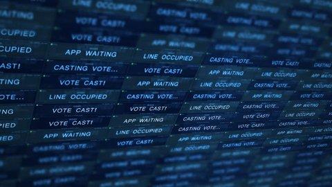 Futuristic Digital Server Technology Concept - Managing Online Voting V1