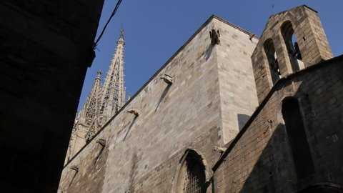 Basilica de Santa Maria del Pi, Placa del Pi, Gothic District, Barcelona, Catalonia, Spain, Europe