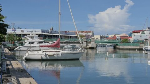 Parliament Building and Constitution River, Bridgetown, St Michael, Barbados, West Indies, Caribbean