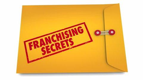Franchising Secrets Start New Business Envelope 3d Animation