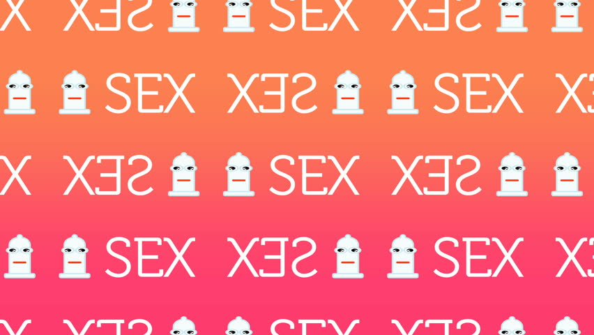 animated pattern representing a happy condom for sexual security