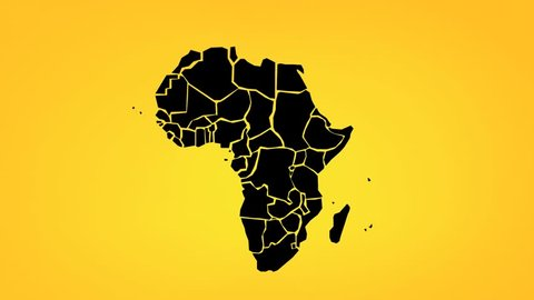 Animated map of Africa with countries