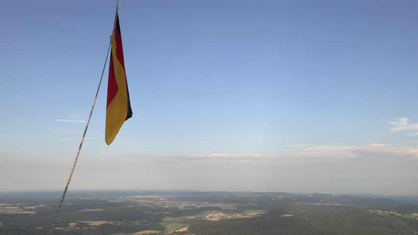 German nacionalfragge while ballooning | Shutterstock HD Video #1014963733