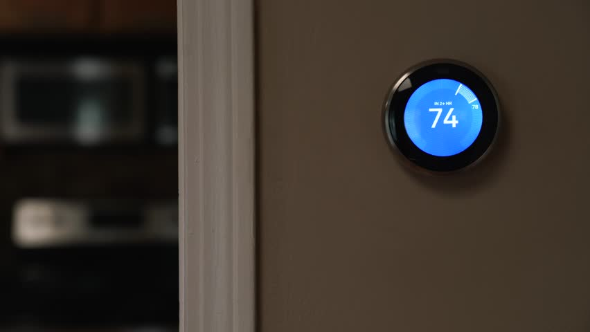 Thermostat temperature set by phone