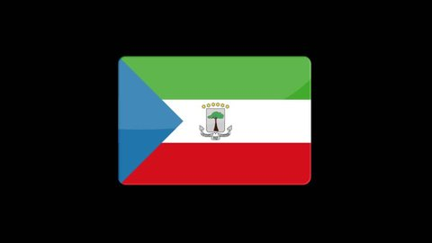 Flag of Equatorial Guinea Beautiful 3d animation of Equatorial Guinea flag in loop mode.Equatorial Guinea flag animation