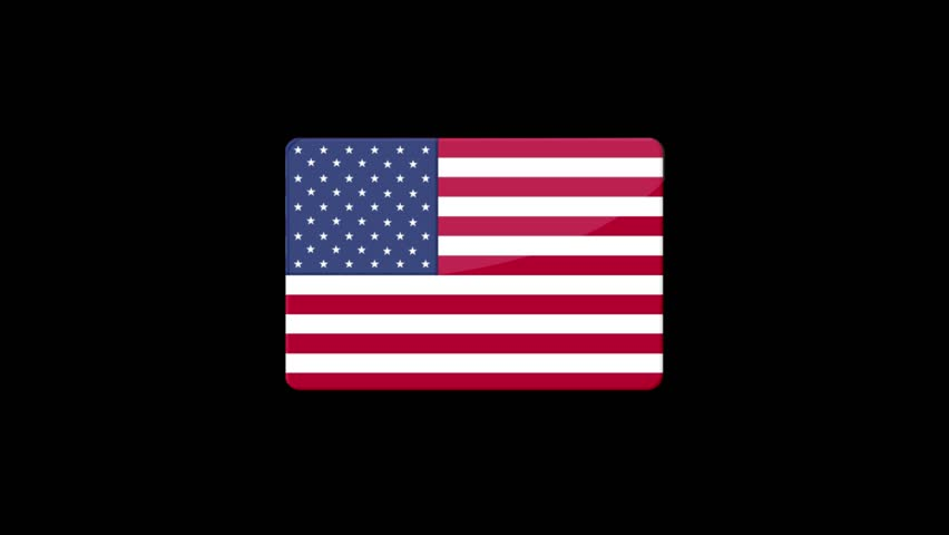 Flag of United States of America Beautiful 3d animation of United States of America flag in loop mode.United States of America flag animation