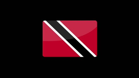 Flag of Trinidad and Tobago Beautiful 3d animation of Trinidad and Tobago flag in loop mode.Trinidad and Tobago flag animation