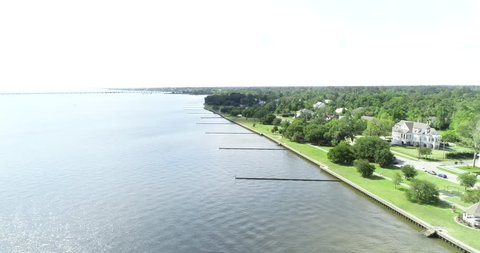 Aerial 4k Drone Mandeville Lakefront