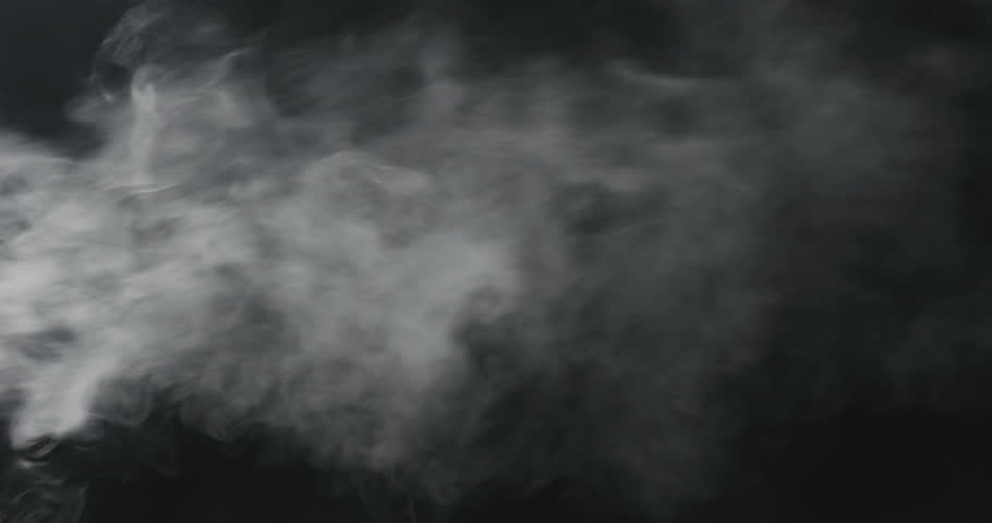 Slow motion vapor steam from left over black background | Shutterstock HD Video #1015186363