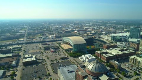 Aerial shot of Minute Maid Park Houston Texas