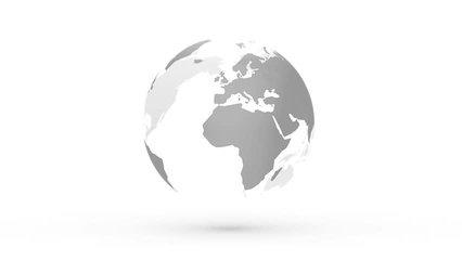abstract gray globe planet earth