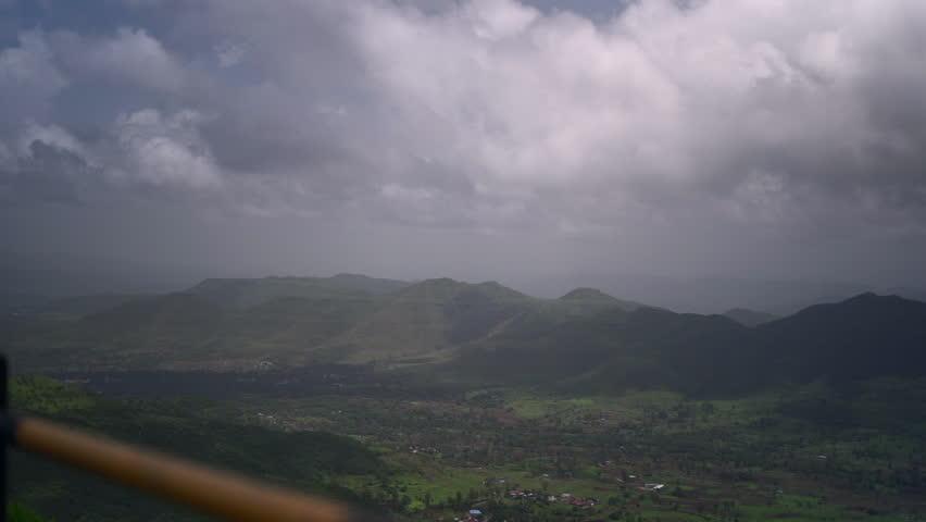 landscape shot of sinhagad fort , pune , india