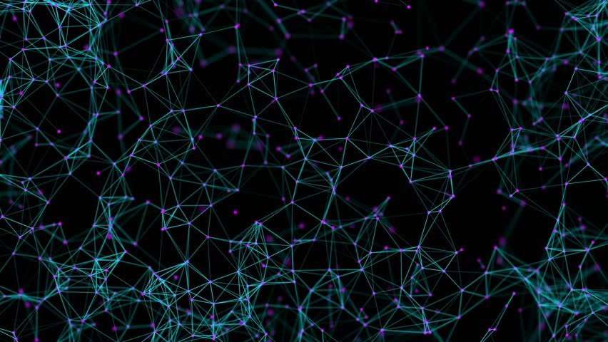Plexus of lines and dots. Abstract motion background. Molecular lattice network. | Shutterstock HD Video #1015535473