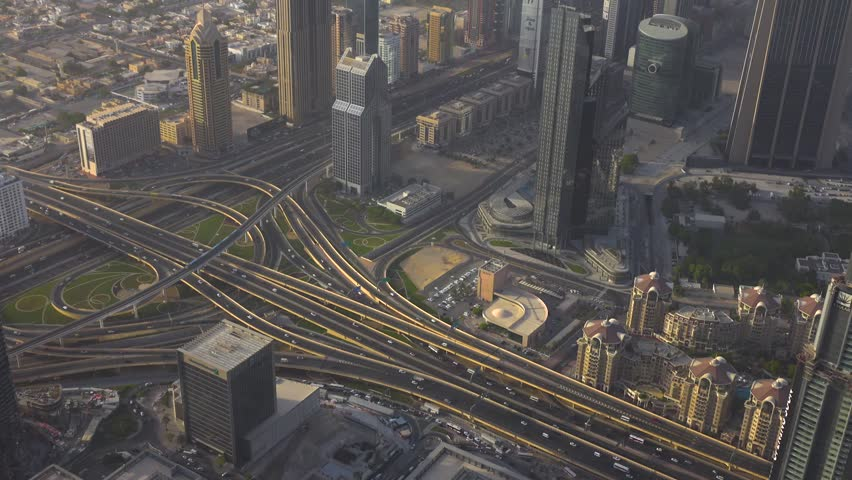 Sheikh Zayed Road Highway in Dubai | Shutterstock HD Video #1015604983