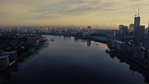 Aerial View of City of London, United Kingdom
