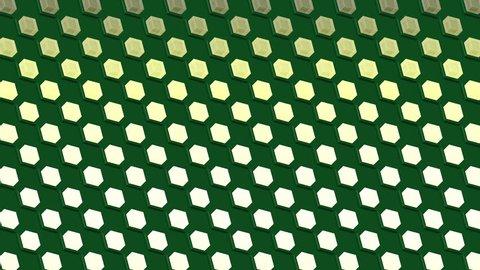 Abstract isometric background cubes lights bulbs diagonal waves flashing