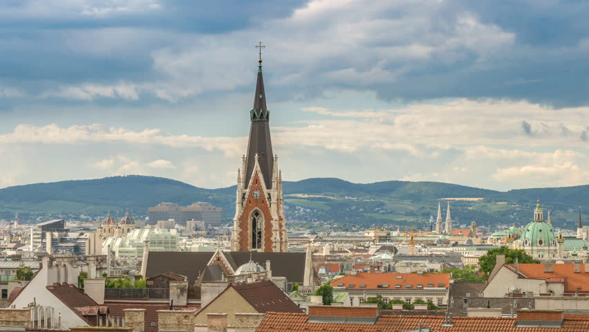Vienna Austria time lapse 4K, city skyline timelapse | Shutterstock HD Video #1015834933