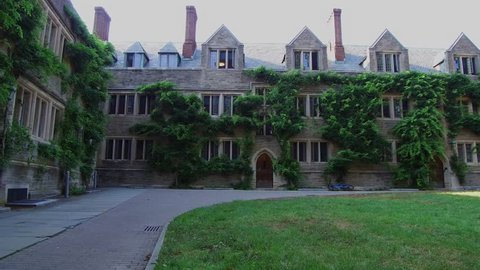 Princeton, NJ / United States - August 12, 2018.   This video shows the Princeton University campus dorms.