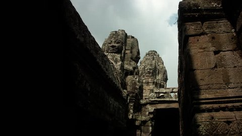 Timelapse of sunrise at Bayon Temple Cambodia Siem Reap